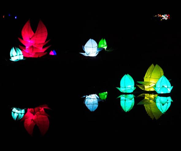 mansion pond lanterns Wakehurst
