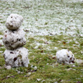 creeper and magma cube snowmen