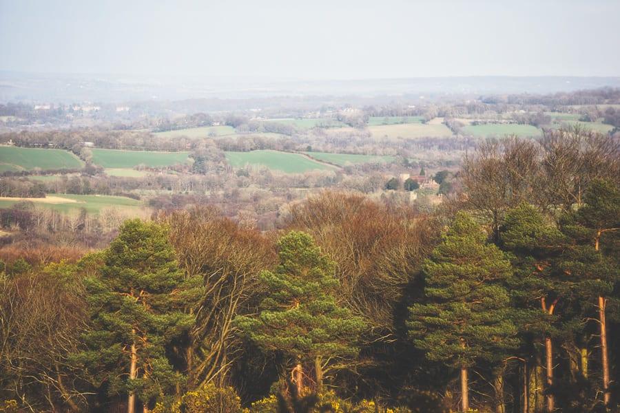 landscape view AA Milne memorial