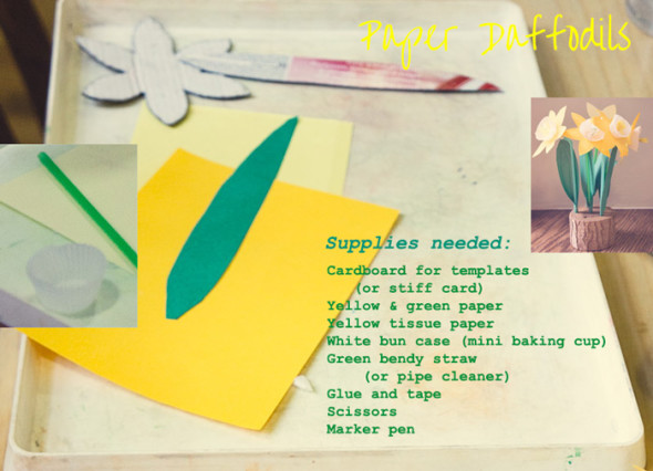 supplies needed for paper Daffodlis