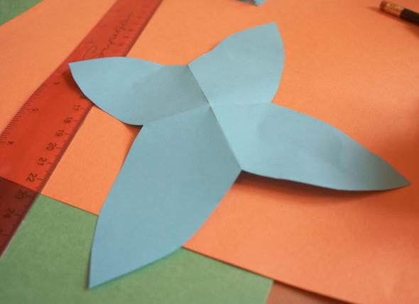 cut out petal shape flower
