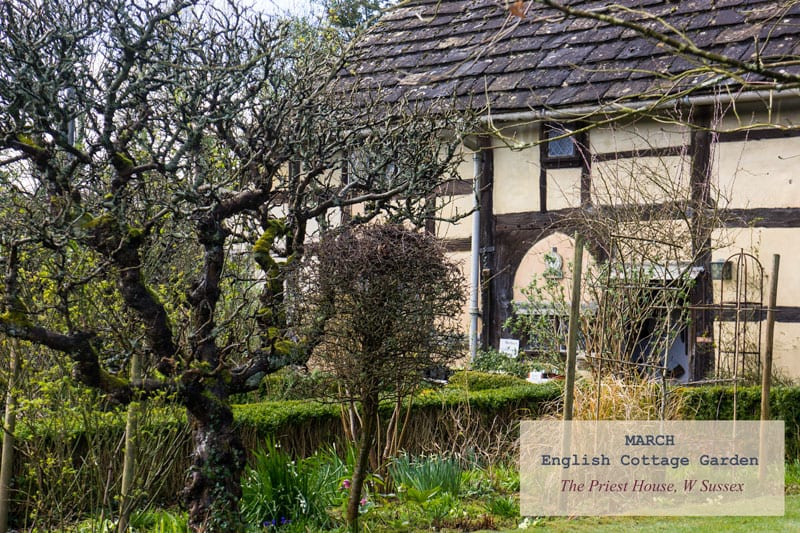 March English Country Garden Priest House Sussex