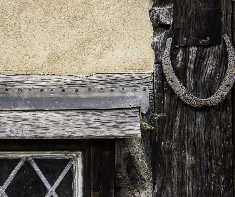 Horse shoe near door at The Priest House