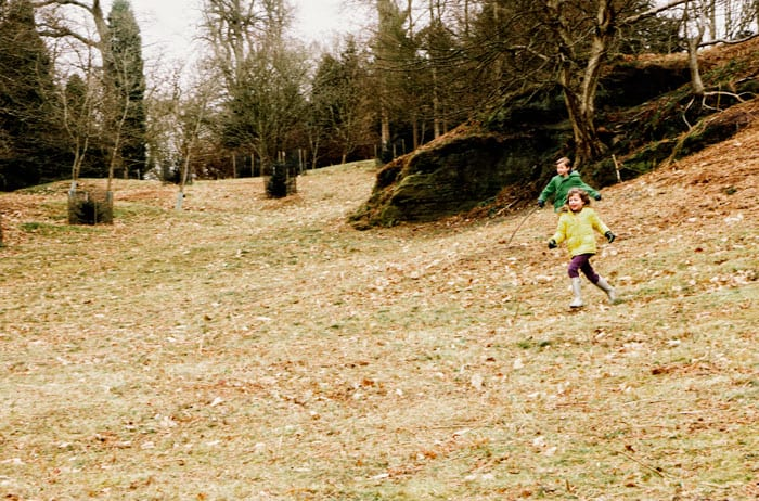 Running down hill at Wakehurst Place