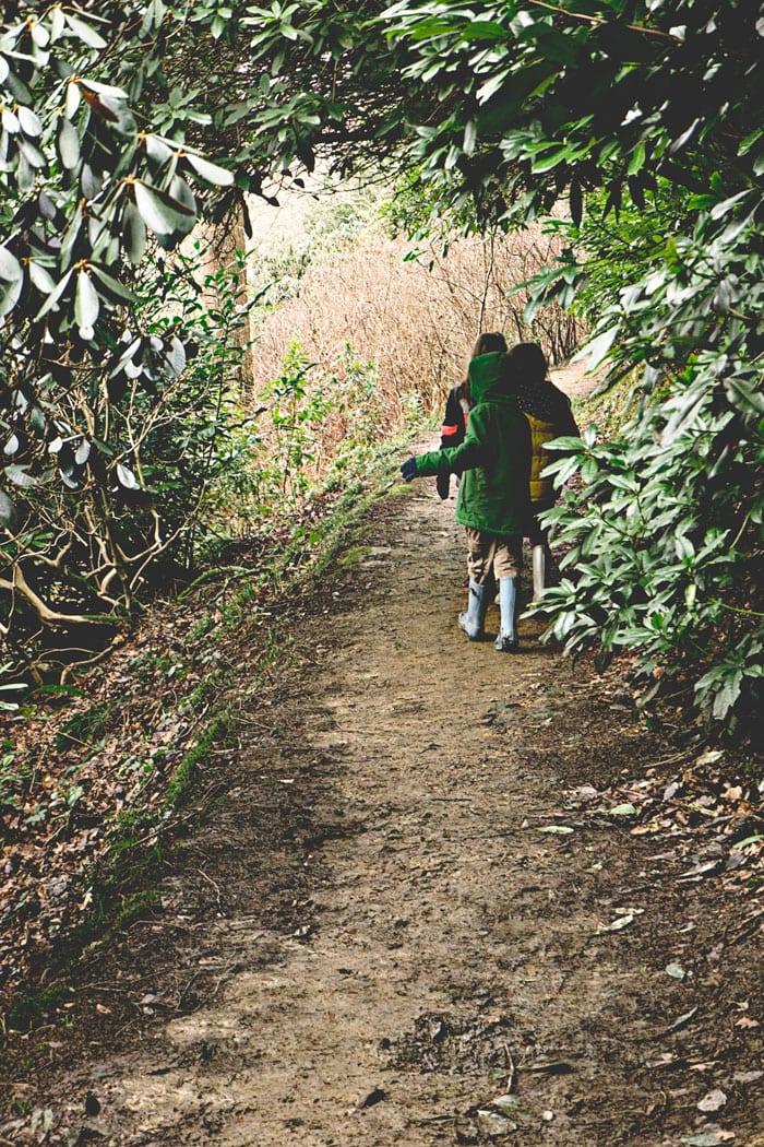 Kids on Wakehurst Place trail