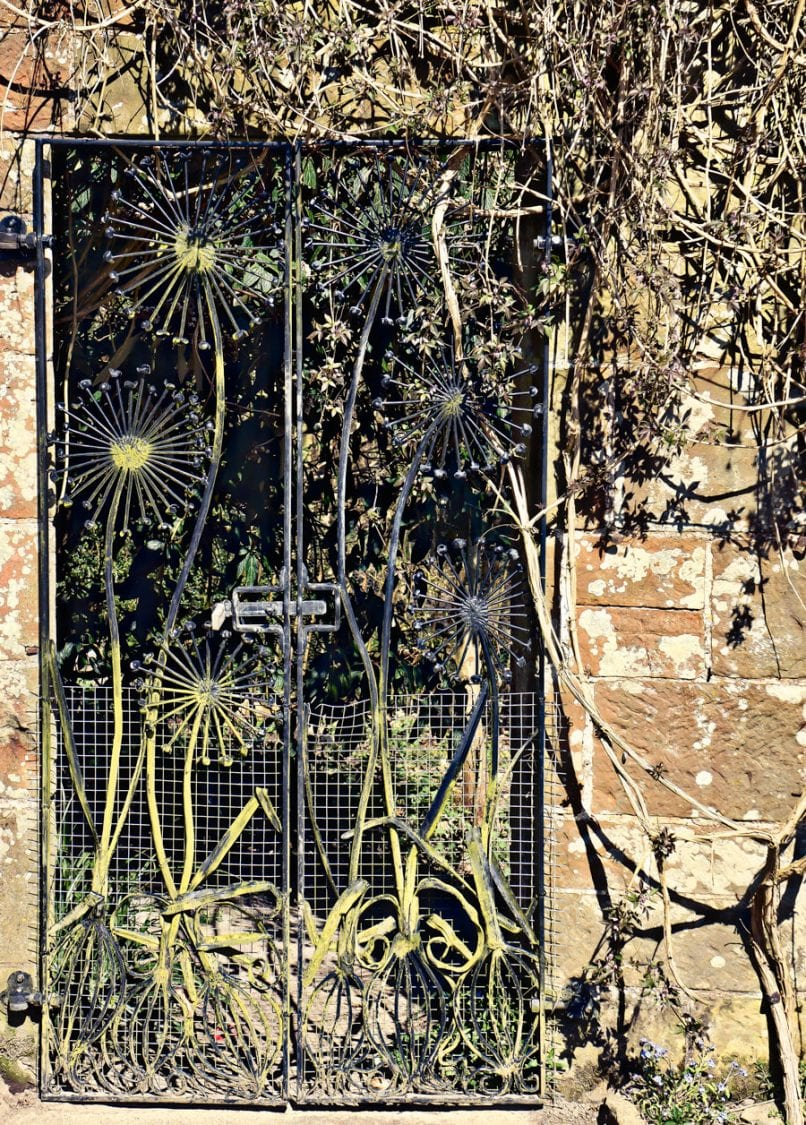 Gravetye Manor kitchen garden back gate