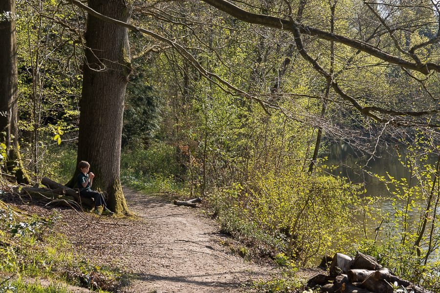 Nature benefits children quiet moment