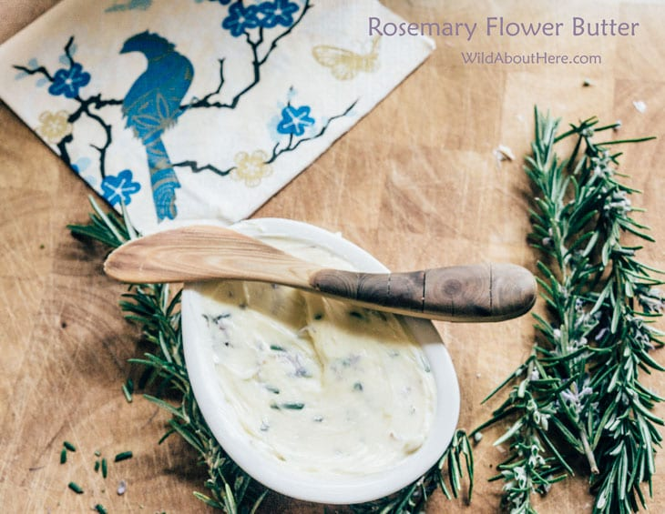 Rosemary Flower Butter recipe