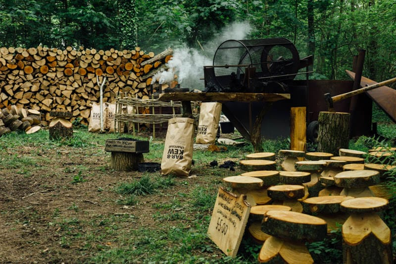 Wakehurst crafts and charcoal stand