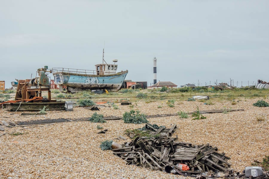 Abandoned boats and debris Dungeness
