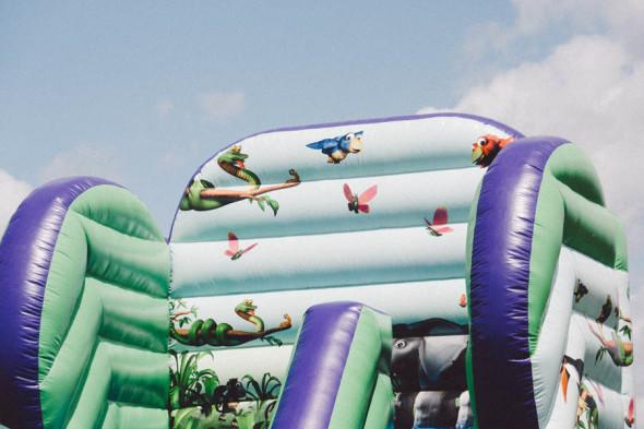 Bouncy castle at village fair