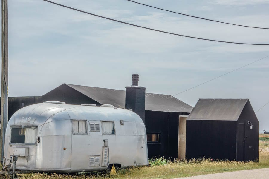 Dungeness beach house with caravan