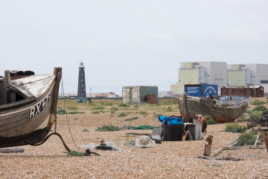 Dungeness nuclear station boats lighthouse