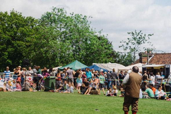 Flyfishing demo at village fair