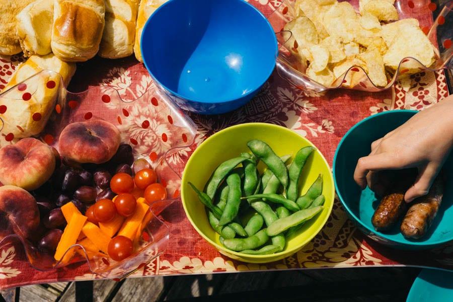 Picnic food tray
