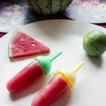 Watermelon and Lime ice lollies