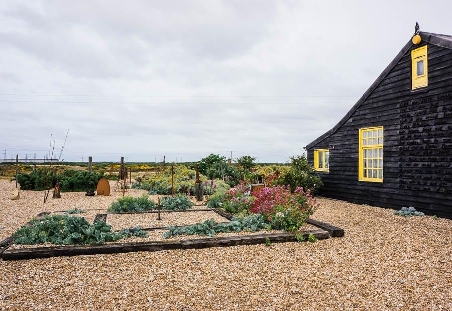 Prospect Cottage side garden and John Donne poem