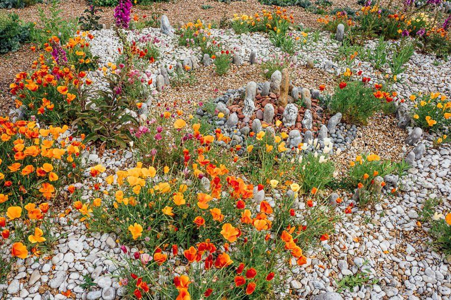 Derek Jarmans Garden round rock circle