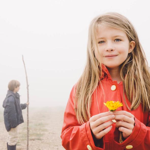 Walk in the mist Luce with wild flower