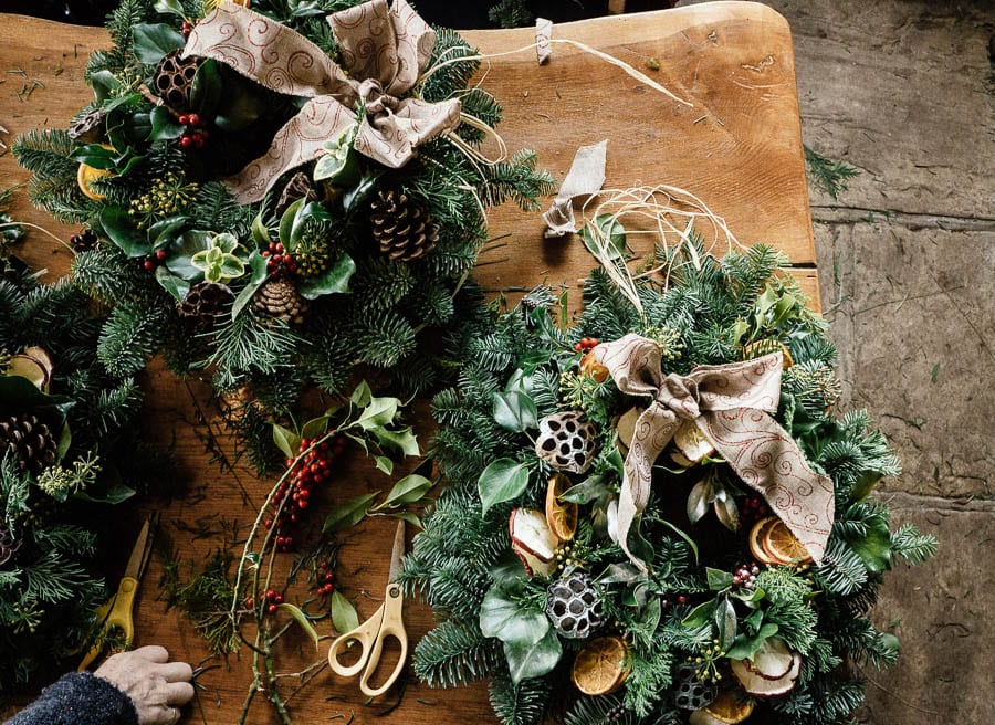 Christmas wreath workshop wreaths