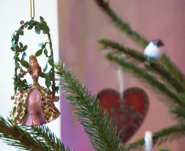 Princess on swing christmas decor