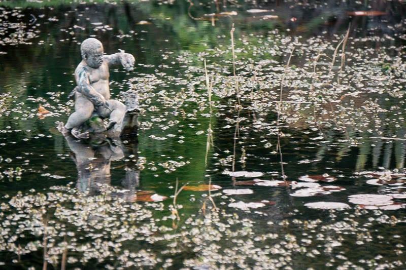 Hever Castle Italian Garden formal pond statue