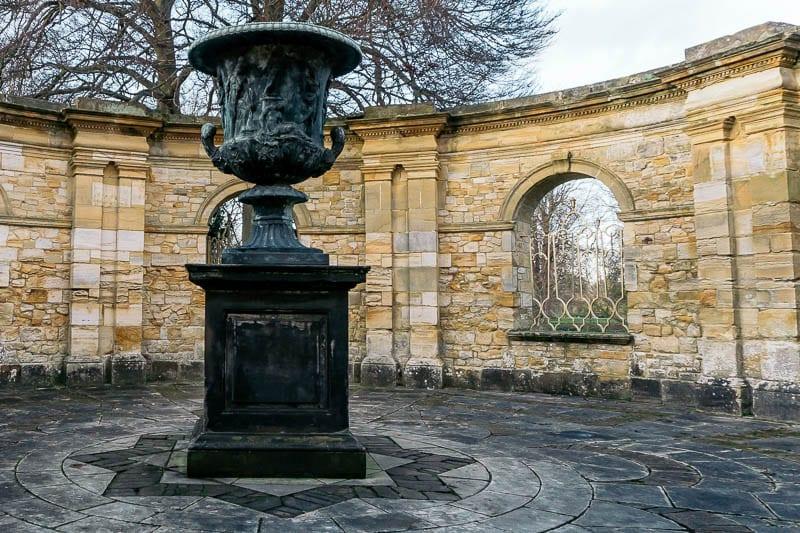 Hever Castle Italian garden urn