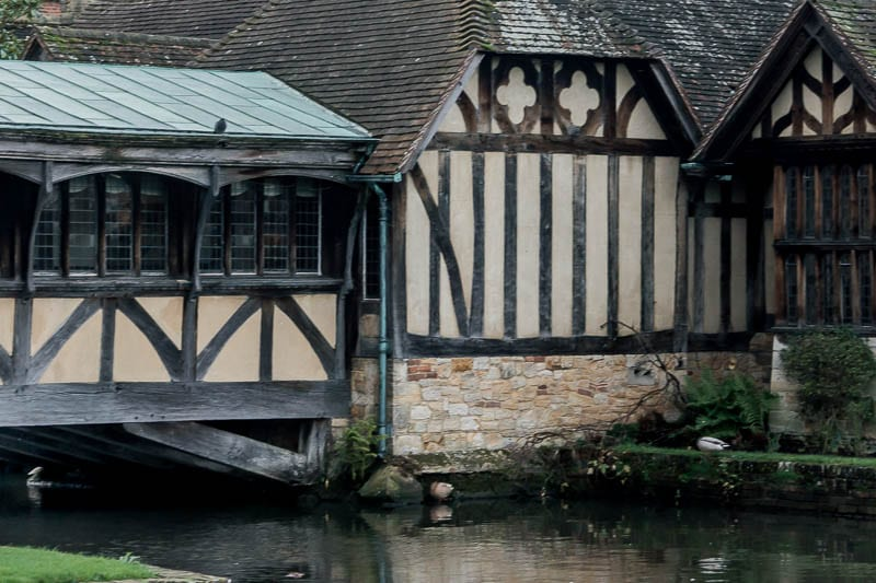 Hever Castle Tudor village water