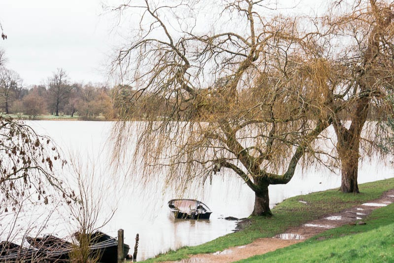 Hever Castle lake and boat
