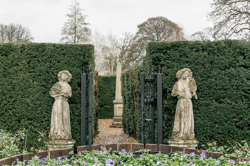 Hever Castle statues at maze
