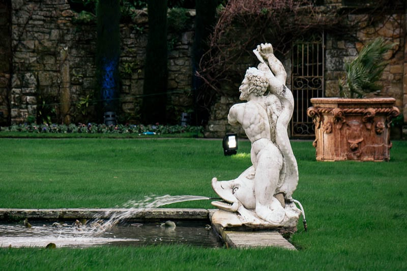Hever Italian Garden fish fountain