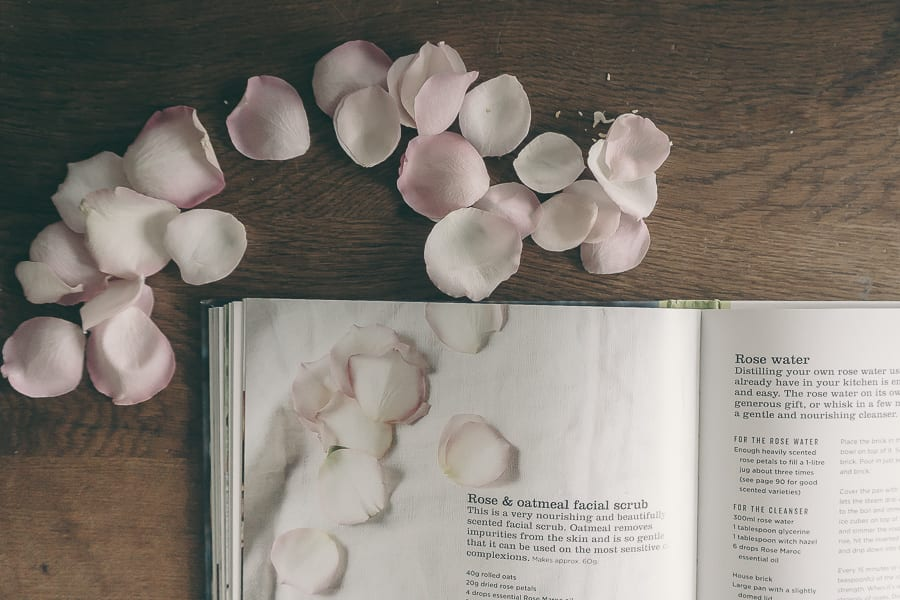 Gifts from the Garden inside rose petals