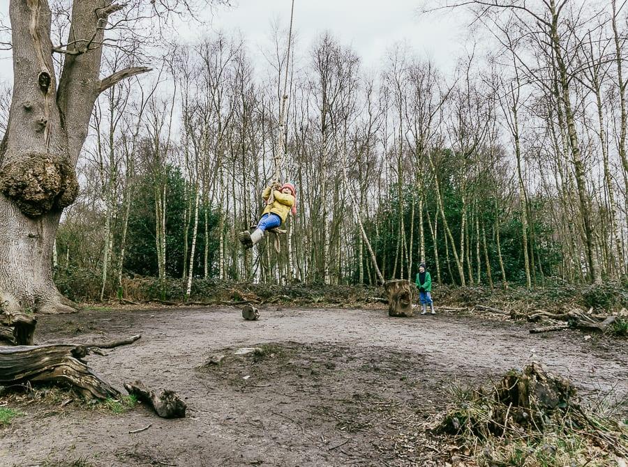 Natural playground Sheffield Park swing