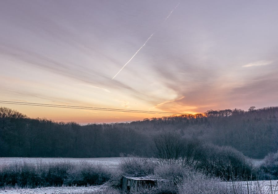 One frosty morning sunrise