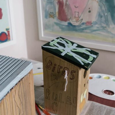 Is it bad for kids to paint nest boxes?