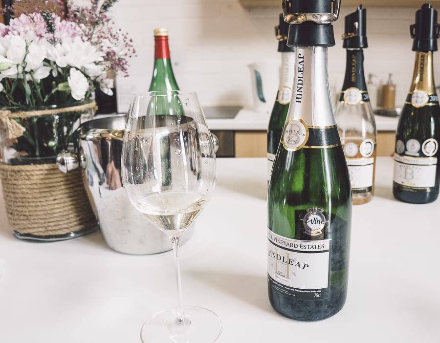 Bluebell Vineyard tasting room and glass