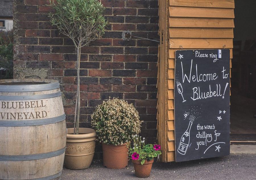 Bluebell vineyard entrance tasting room