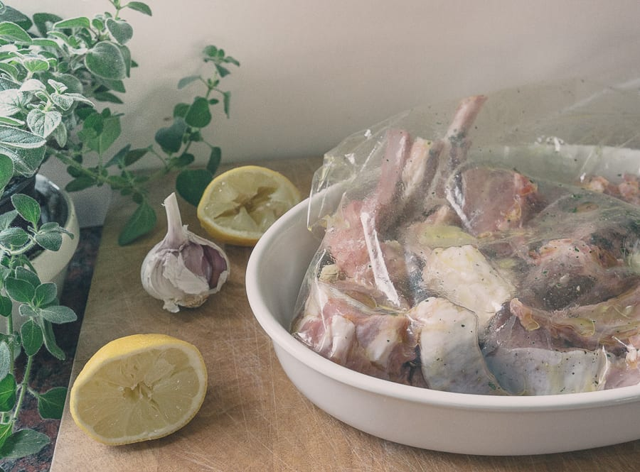 Grilled Lamb Cutlets in marinade