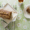 Banana loaf with white chocolate crust recipe