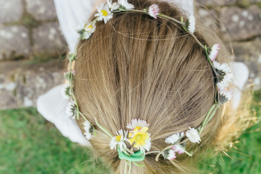 How to make a simple daisy chain crown garland