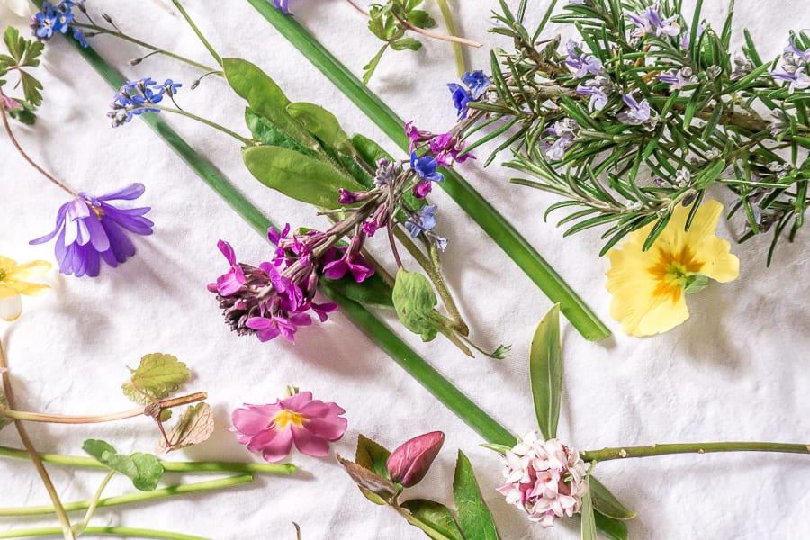 My April garden flowers mix