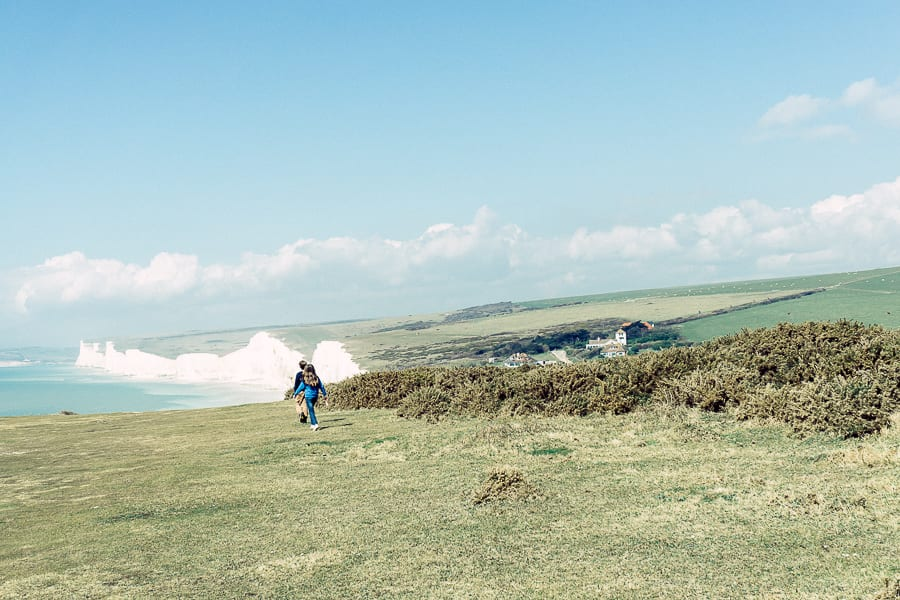 Walk with a view with kids at Birling Gap