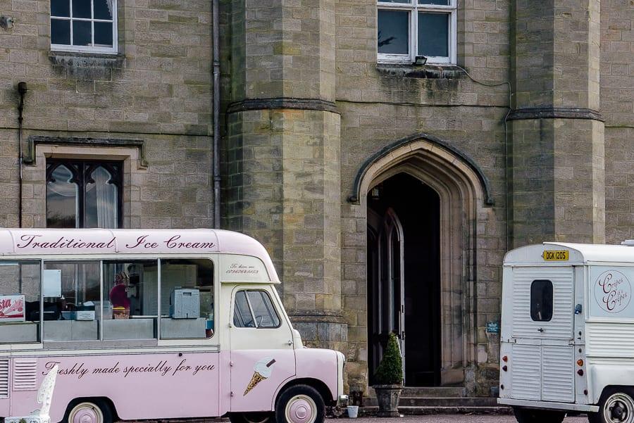 Chiddingstone Castle pink ice cream van