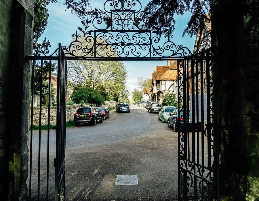 Chiddingstone Castle high street gate