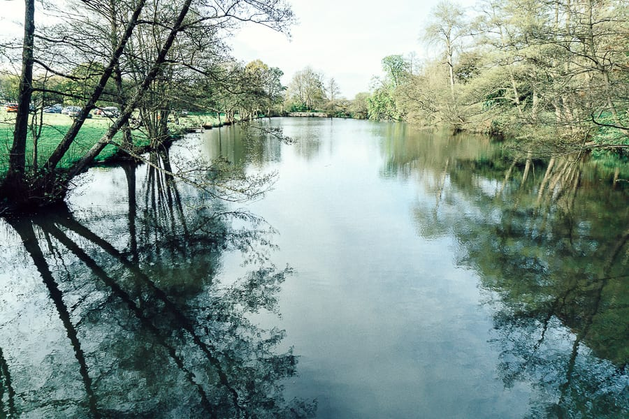 Chiddingstone Castle lake