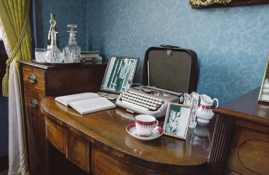 Chiddingstone Castle study desk