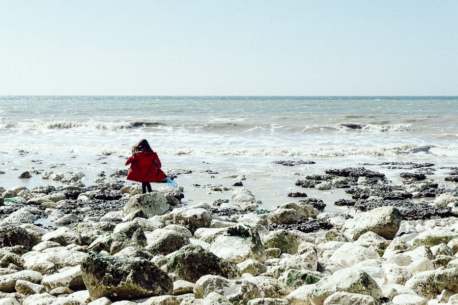 Rock pooling foreshore