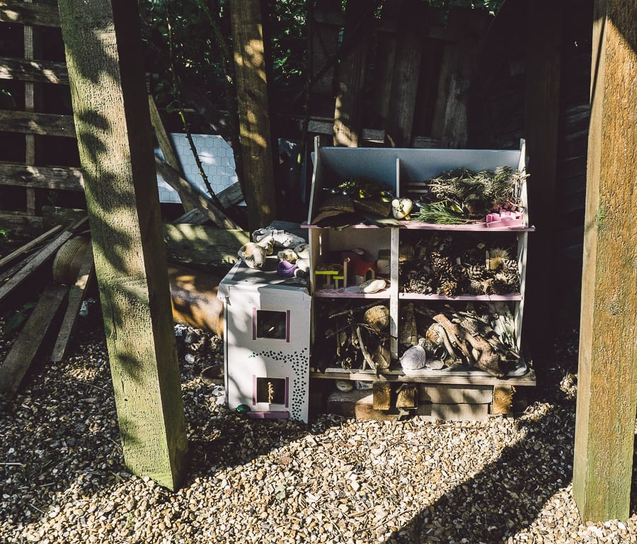 Dollhouse for bugs and hedgehogs