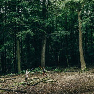 Lightsaber battle in the woods – a kids Star Wars adventure