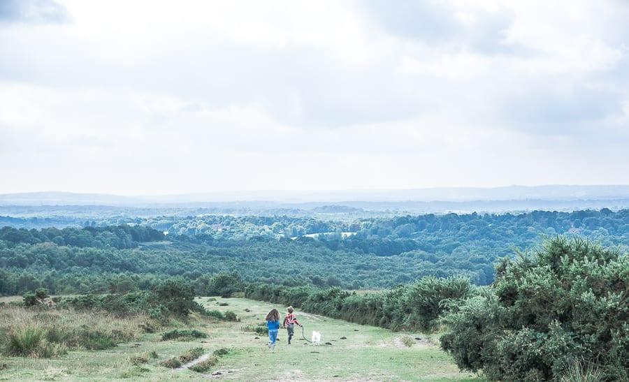 Heathland valley kids running
